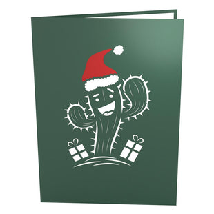 Holiday Cactus Pop Up Christmas Card