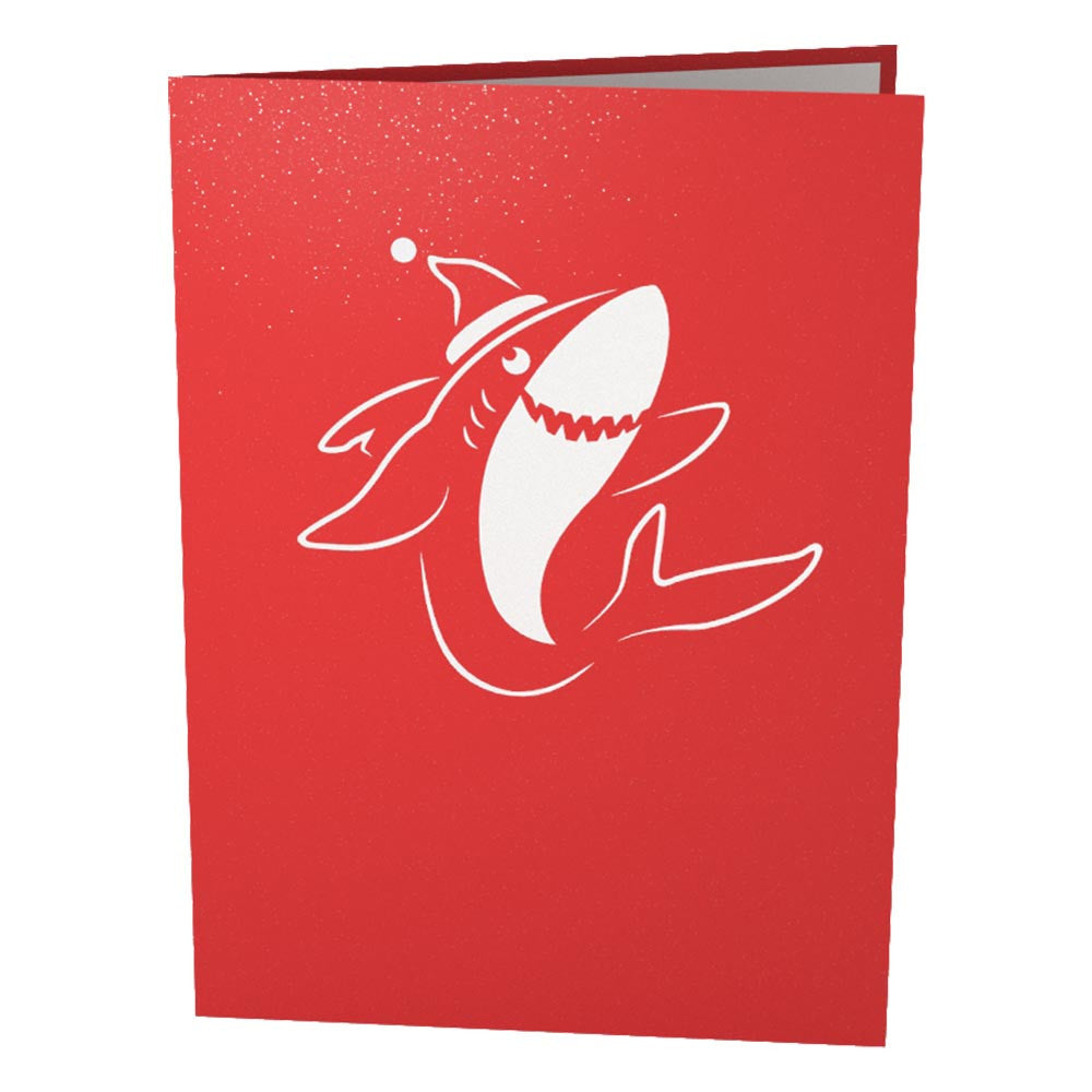 Christmas Shark pop up card