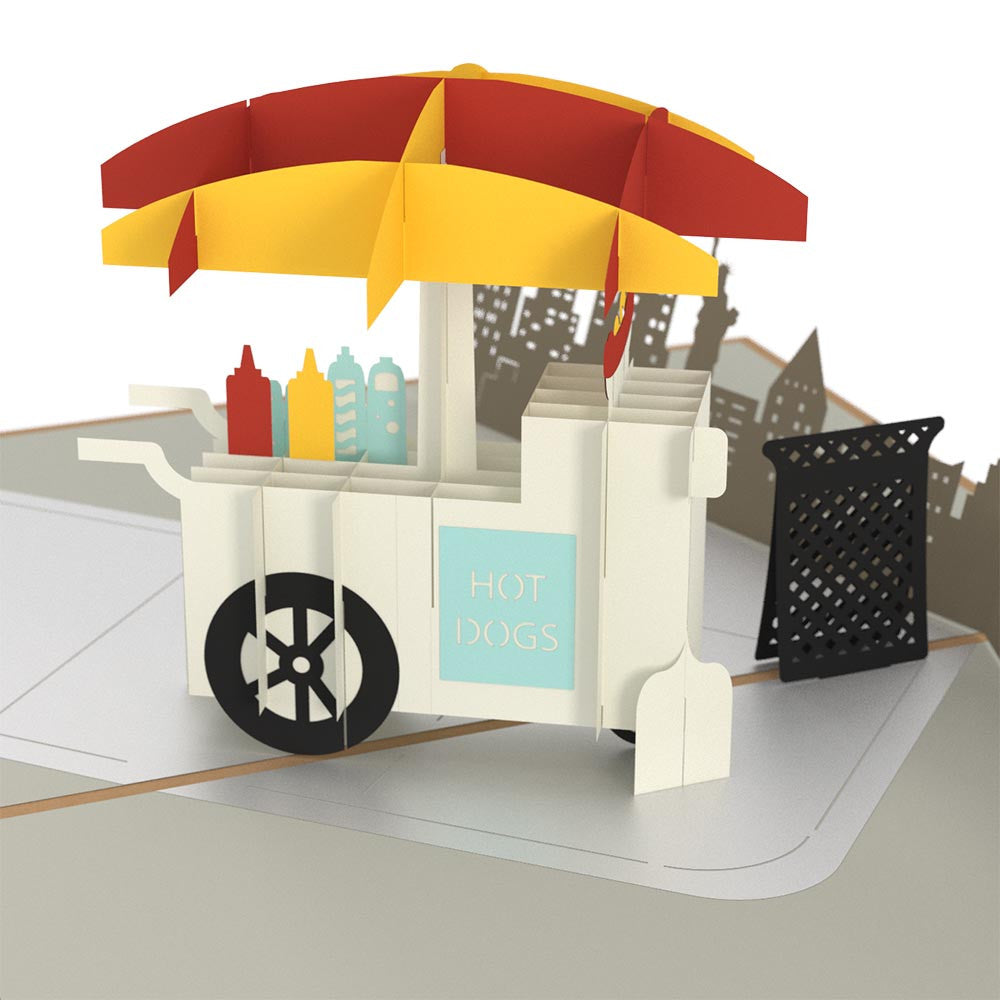Hot Dog Stand pop up card