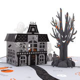Haunted House pop up card - thumbnail