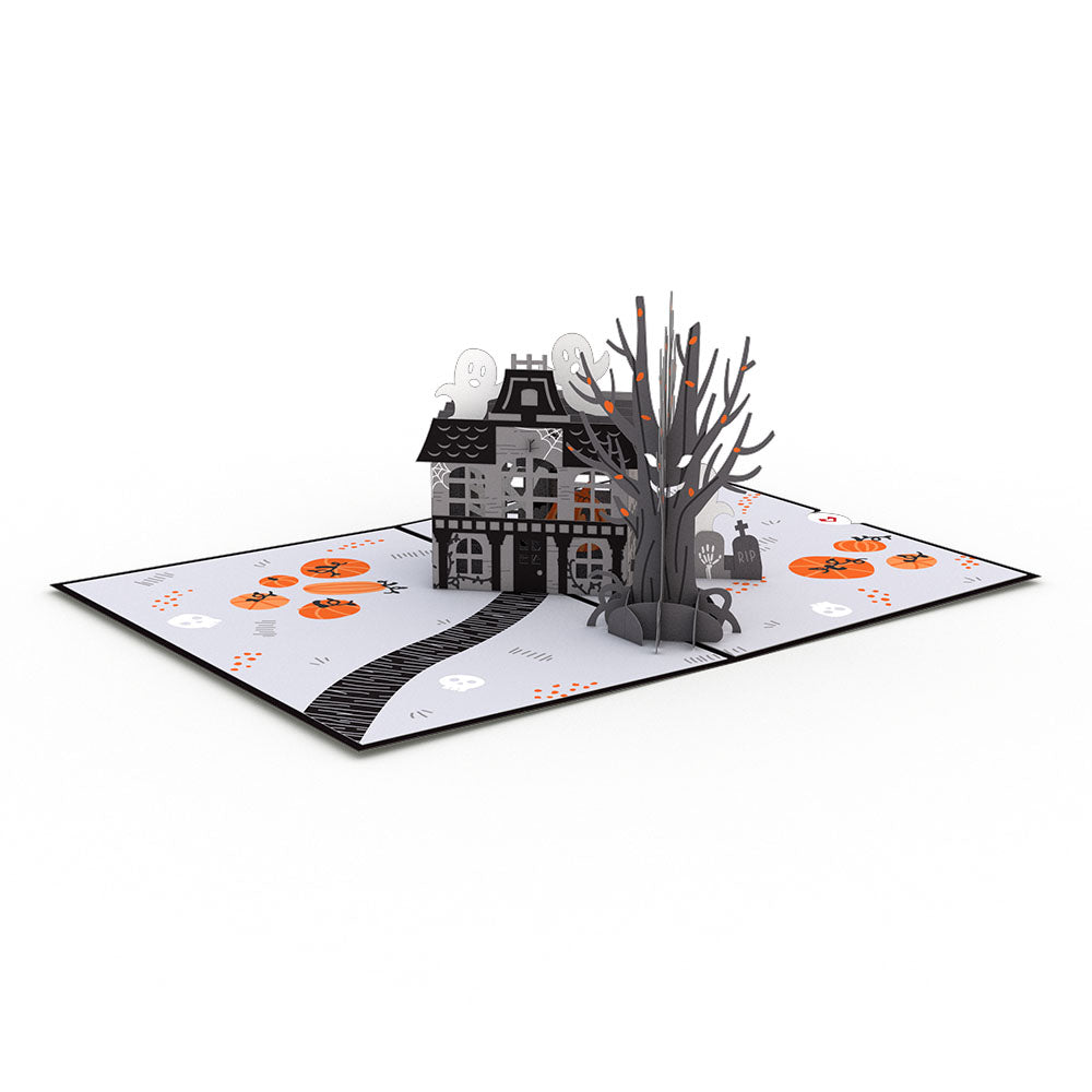 Haunted House 3D card