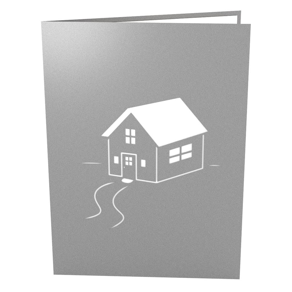 Housewarming Gray pop up card