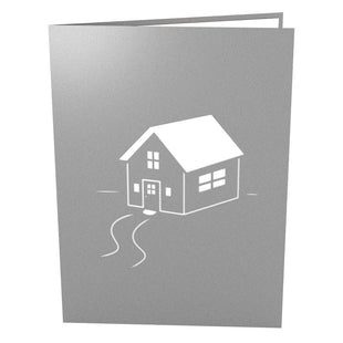 Housewarming Gray Pop Up Housewarming Card