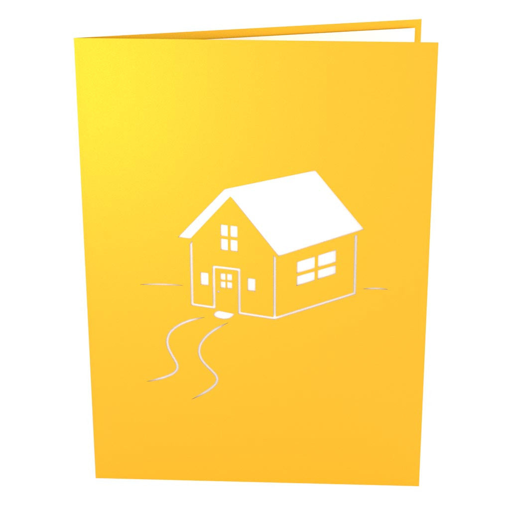 Housewarming Yellow pop up card