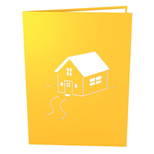 Housewarming Yellow Pop Up Housewarming Card