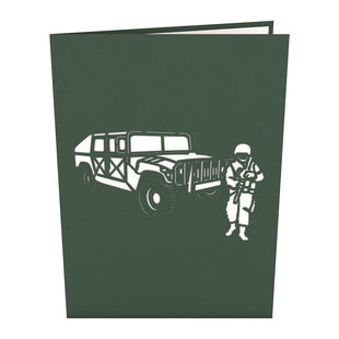 Humvee Pop Up Military Card