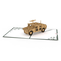 Humvee Pop Up Military Card greeting card -  Lovepop
