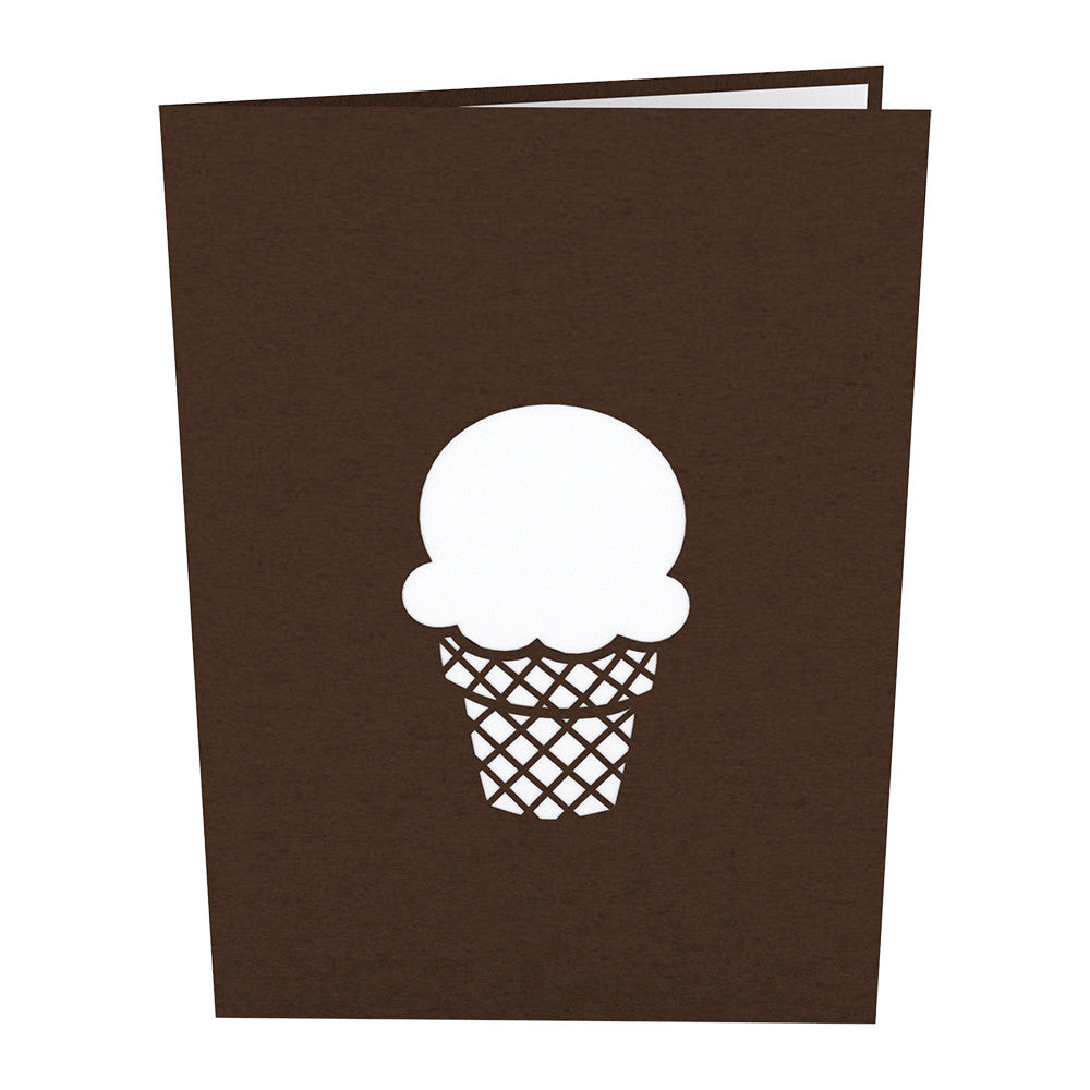 Chocolate Ice Cream Cone pop up card