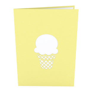 Vanilla Ice Cream Cone Pop up Card
