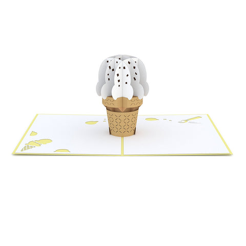 Vanilla Ice Cream Cone Pop up Card greeting card -  Lovepop