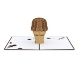 Chocolate Ice Cream Cone pop up card - thumbnail