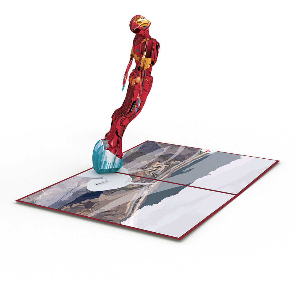 Iron Man birthday pop up card
