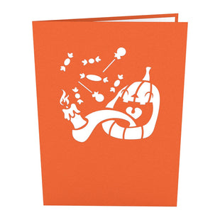 Jack-o-lantern halloween pop up card