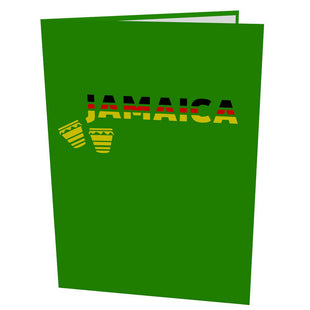 Jamaican Flag Pop Up Greeting Card