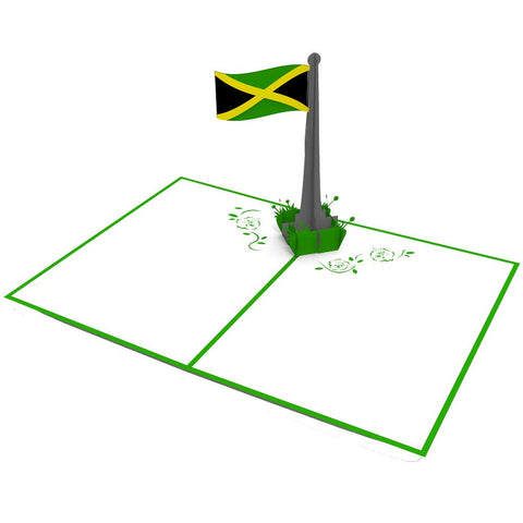 Jamaican Flag Pop Up Greeting Card greeting card -  Lovepop