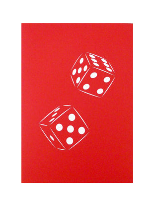 Champagne Dice Pop Up Birthday Card