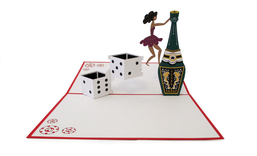Champagne & Dice pop up card