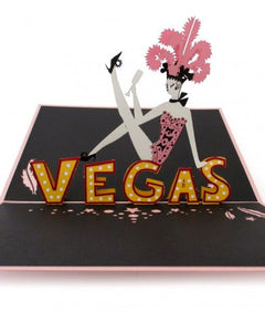 Las Vegas Showgirl Pop Up Birthday Card greeting card -  Lovepop