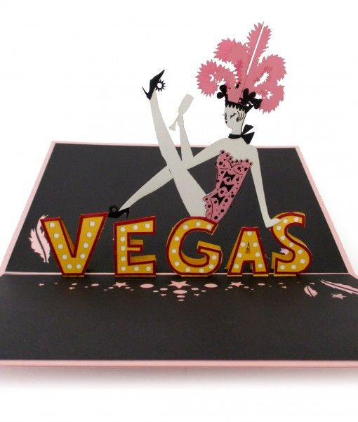 Las Vegas Showgirl Pop Up Card