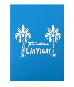Las Vegas Sign Pop Up Greeting Card