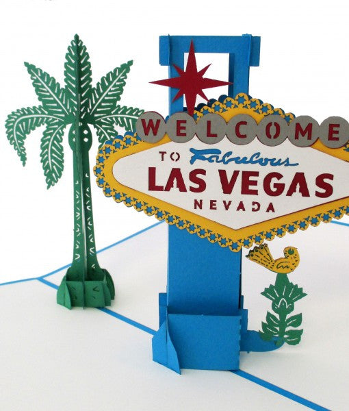Las Vegas Sign pop up card