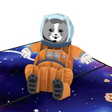 Space Cat                                   pop up card - thumbnail
