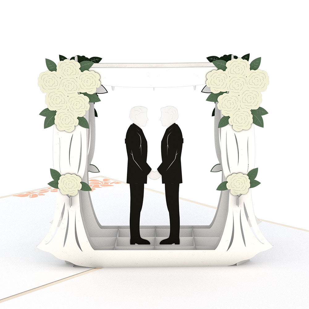 Wedding Couple Same Sex Male             pop up card