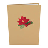 Winter Flower Basket                                   pop up card - thumbnail