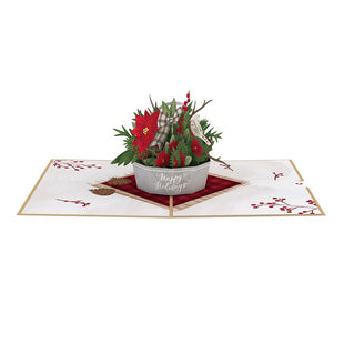 Winter Flower Basket greeting card -  Lovepop