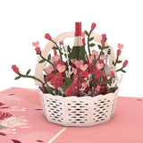 Valentine's Basket                                   pop up card - thumbnail