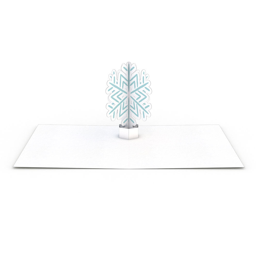 Snowflake Thank You Notecards (Assorted 4-Pack)             pop up card