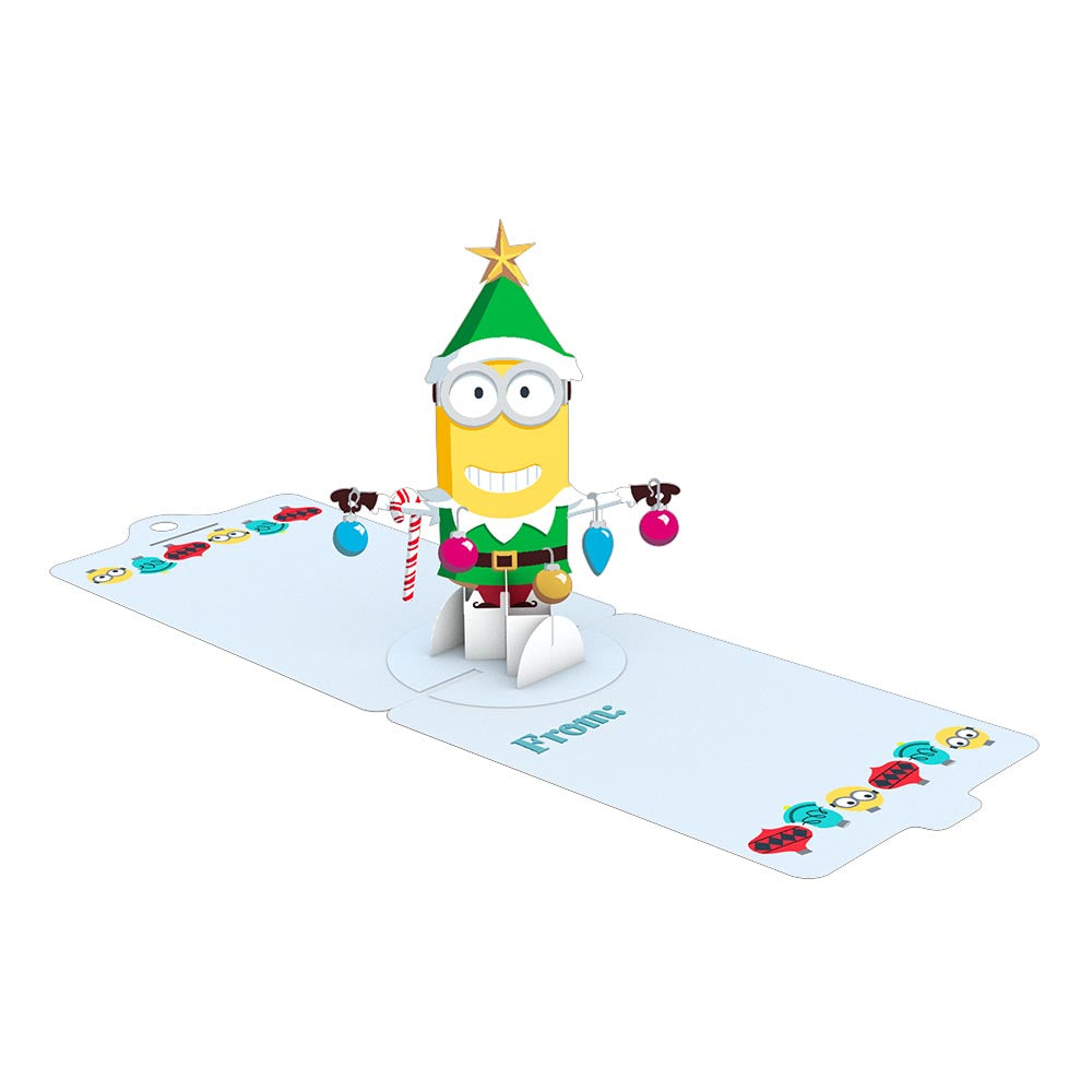 Gift Tag 4-Pack: Despicable Me Minions Holiday             pop up card