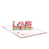 Floral Love                                   pop up card - thumbnail