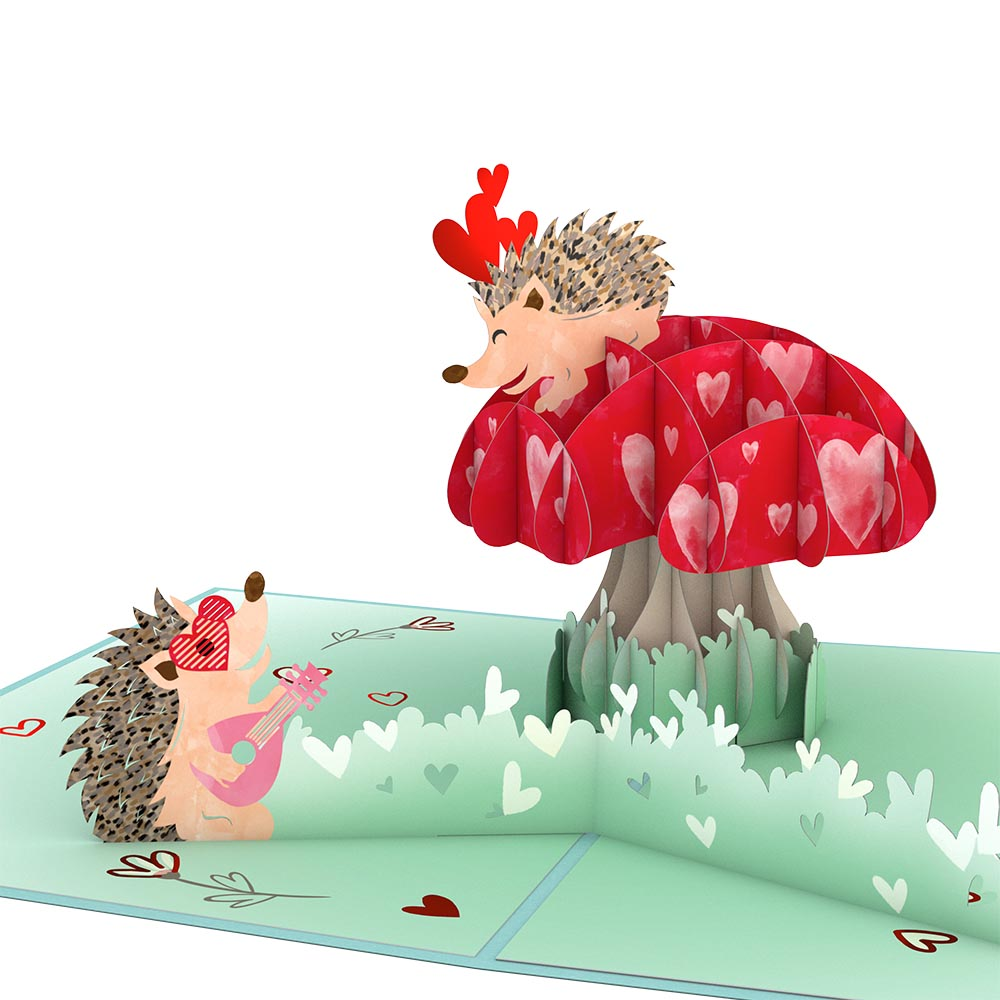 Hedgehogs in Love             pop up card