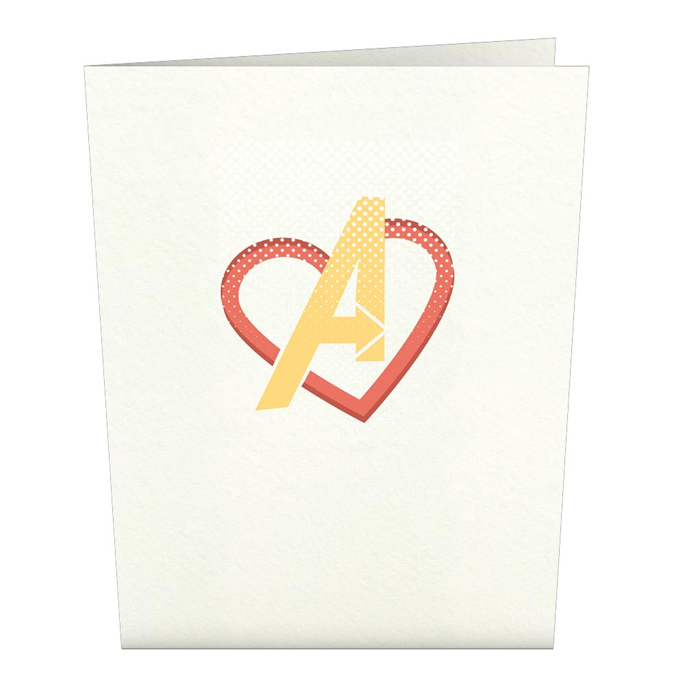 Marvel Avengers Valentine Notecards (Assorted 4 Pack)             pop up card