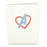 Marvel Avengers Valentine Notecards (Assorted 4 Pack)                                   pop up card - thumbnail
