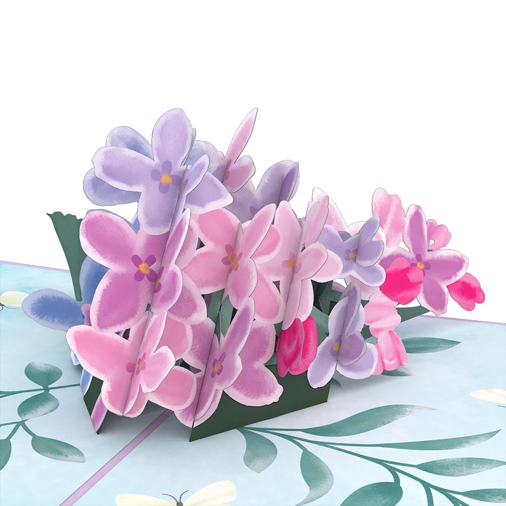 Mother's Lilacs Pop Up Card