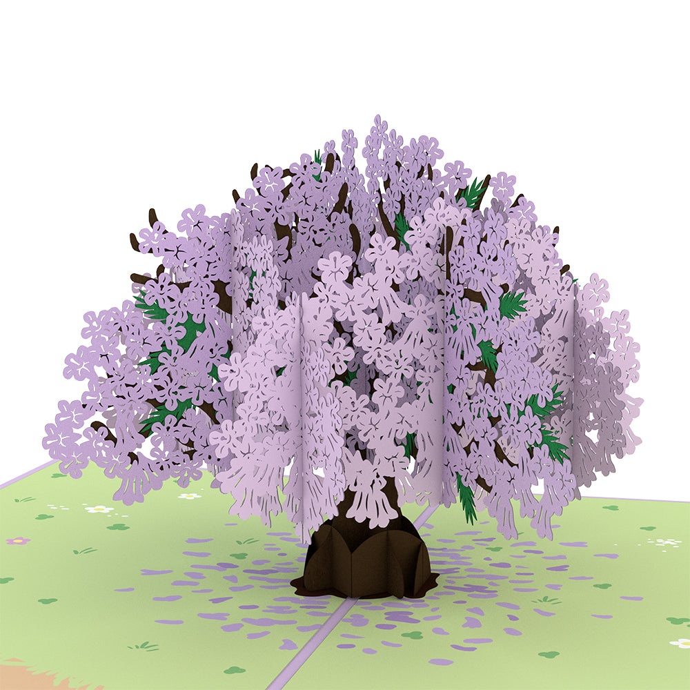 Mother's Day Jacaranda Tree             pop up card