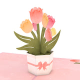 Mother's Tulips                                   pop up card - thumbnail