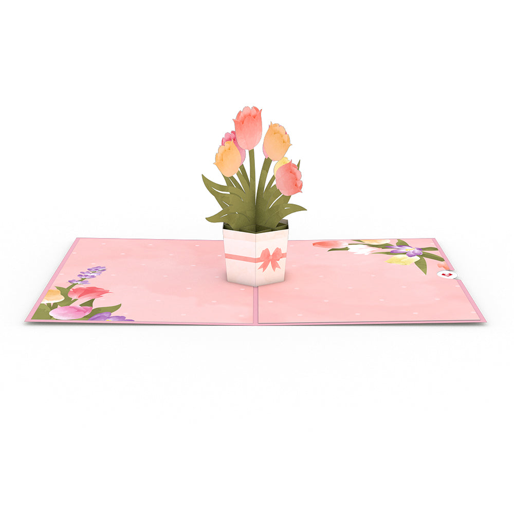 Mother's Tulips 3D card