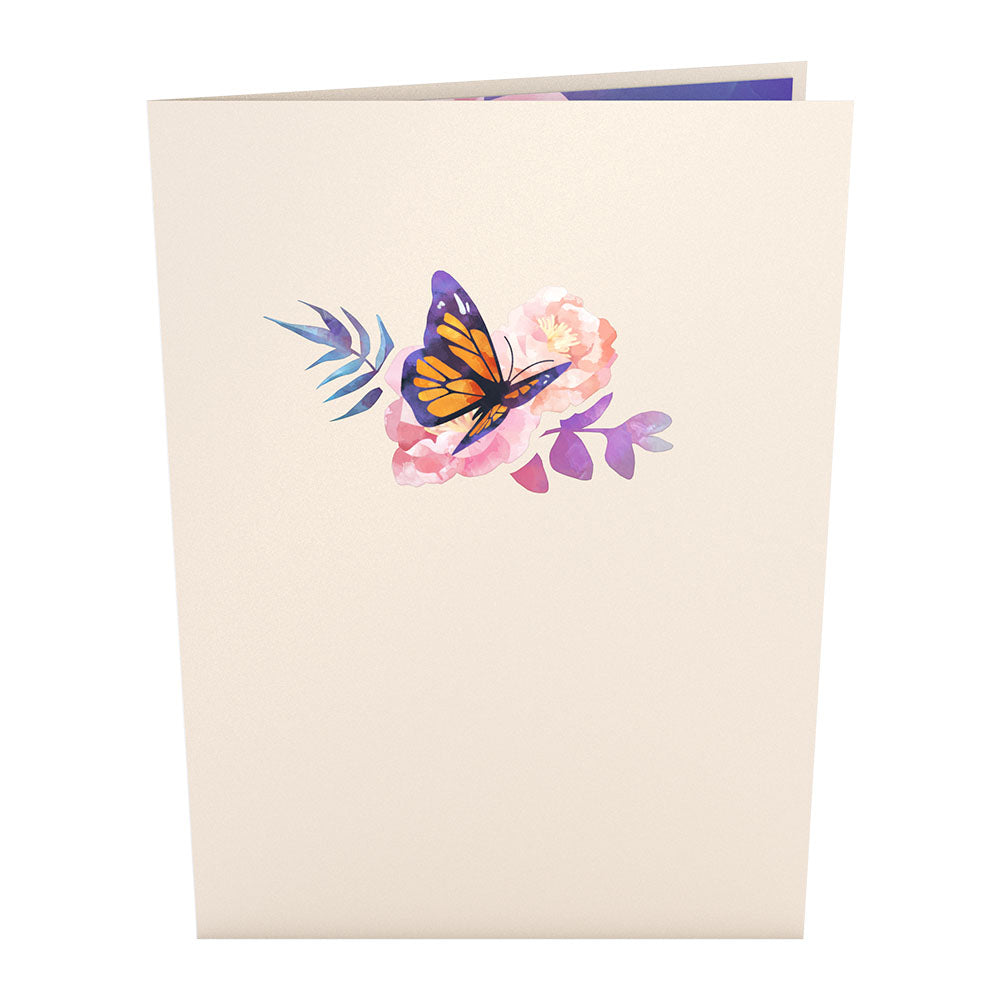 Monarch Butterfly                                             birthday                            pop up card
