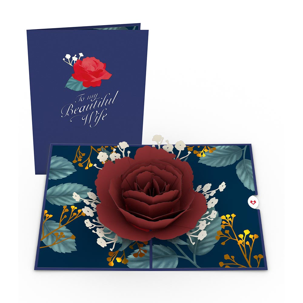 Wife's Rose Bloom 3D card
