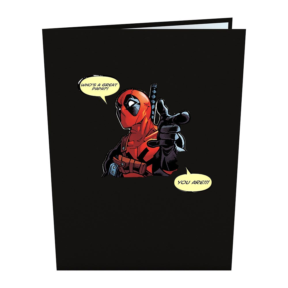 Marvel's Deadpool: Greatest Papa             pop up card