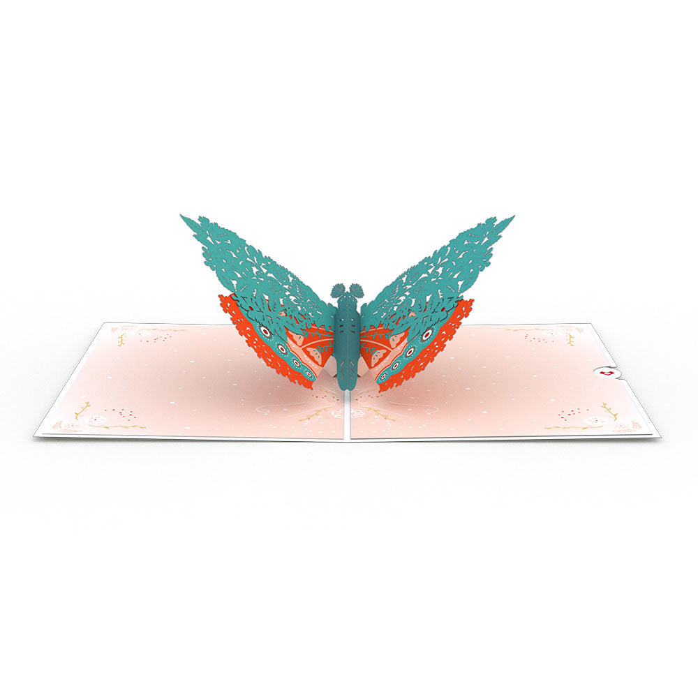 Floral Moth             pop up card