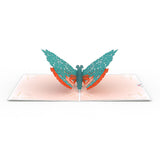 Floral Moth                                   pop up card - thumbnail
