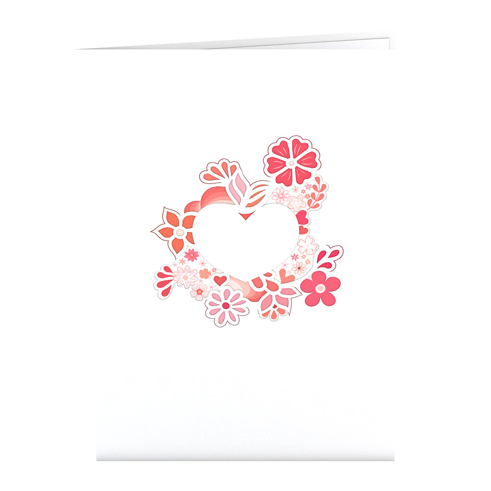 Blooming Heart             pop up card