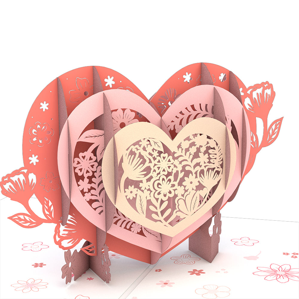 Blooming Heart Pop-Up Card