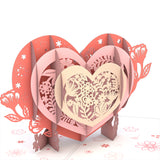 Blooming Heart                                   pop up card - thumbnail