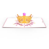 Queen                                                          birthday                                                     pop up card - thumbnail