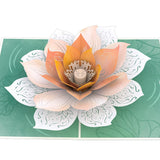 Lotus Bloom                                   pop up card - thumbnail